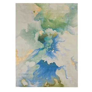 "Nourison Prismatic Contemporary Area Rug, Seafoam, 9'9""x13'9"""