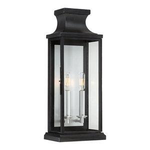 Savoy House Brooke 2-Light Wall Lantern, Black