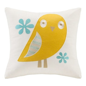 Ink+Ivy Ava Embroidered Decorative Pillow White 20x20 II30-778