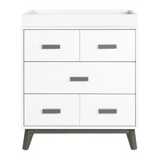 Scoot 3-Drawer Changer Dresser, White and Slate