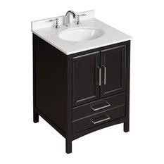 Vanity Art Single Bathroom Vanity Set, Espresso, 24""