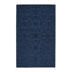 Kaleen Hand-Tufted Imprints Modern Wool Rug, Navy, 8'x11'