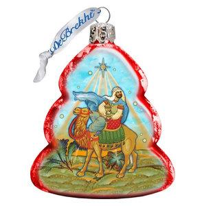 Keepsake Melchior Three Kings Scenic Glass Ornament Traditional Christmas Ornaments By G Debrekht