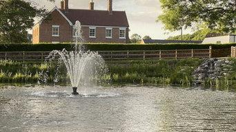 SS2 Delmar Aerating Fountain & AirPro 4 Diffused Aeration Hodnet, Shropshire