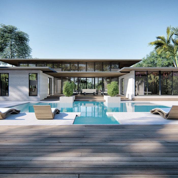 Minimalist home design photo in Miami