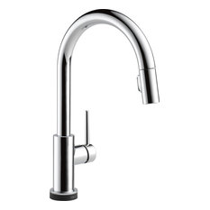 Delta Trinsic 1-Handle Pull-Down Kitchen Faucet with Touch2O Technology, Chrome