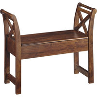 Abbonto Accent Bench Warm Brown