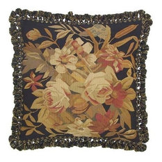 "New Aubusson Throw Pillow 22""x22""  Autumn"