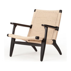 Papercord Easy Chair, Black Laquer