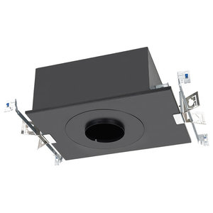 "Volta 4.5"" LED 25W New Construction IC Rated Chicago Plenum Housing, Round Trim"