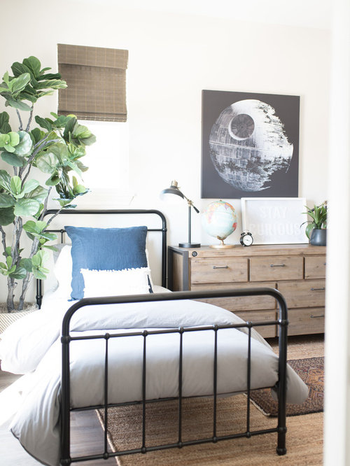chambre d 39 enfant industrielle de taille moyenne photos et id es d co de chambres d 39 enfant. Black Bedroom Furniture Sets. Home Design Ideas