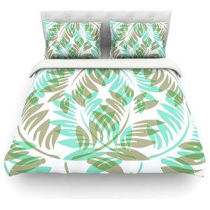 Cal King Comforter 104 X 88 KESS InHouse Suzanne Carter Poppy Blue Pink King