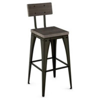 Amisco Upright Stone dust Non Swivel Stool, 30""