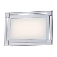George Kovacs P1161-077-L Framed Bathroom Light, Chrome