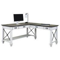Martin Furniture Hartford Open L-Shaped Desk, White