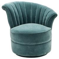 """Swivel Chair, Eichholtz Aero, R, Green, 22""""x26""""x29"""""""