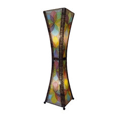 Eangee   Large Hour Glass Lamp In Multicolor   Floor Lamps