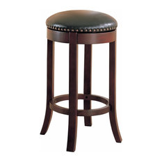 Contemporary 29-inch Swivel Bar Stool With Upholstered Seat Brownset Of 2