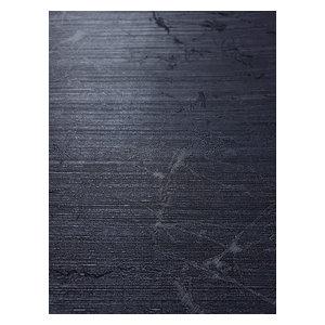 Textured Wallpaper Plain Dark Onyx Navy Blue Metallic , 27 Inc X 33 Ft Roll