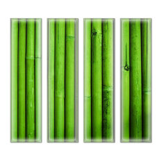 "3""x12"" Upscale Designs Crystal Glass Wall Tile, Set of 32"