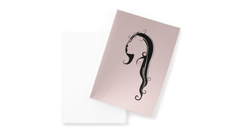 """Face"" 5-Piece Folded Note Card Set, Pink, 15x21 cm"