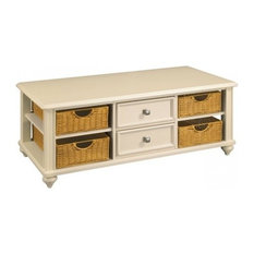 Hammary Furniture   Hammary Camden Light 2 Drawer Cocktail Table With 4  Baskets In