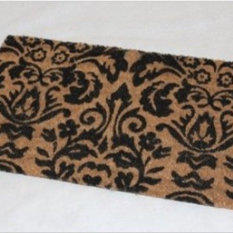 Coir Black Scroll Baroque Doormat Door Mats