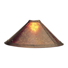 Industrial lamp shades Old Fashioned Cal Lighting Mica Shade For Bo217 Lamp Shades Houzz 50 Most Popular Industrial Lamp Shades For 2019 Houzz