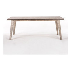 78-inch L Dining Table Natural Exotic Hand Crafted Acacia Wood Wooden Legs