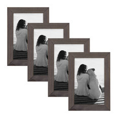 Gallery Wood Picture Frame Set, Gray 4X6