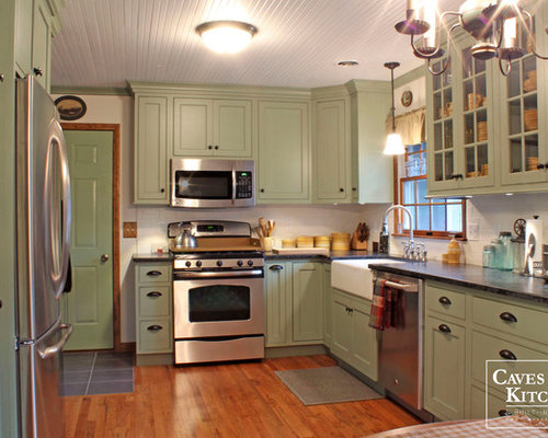 Sage kitchen cabinets home design ideas pictures remodel for Sage green kitchen cabinets with white appliances