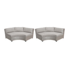Florence Curved Armless Sofa 2 Per Box in Ash