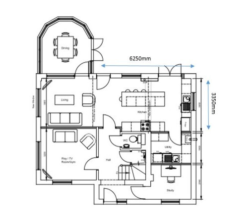 Non Standard Kitchen Layout Help