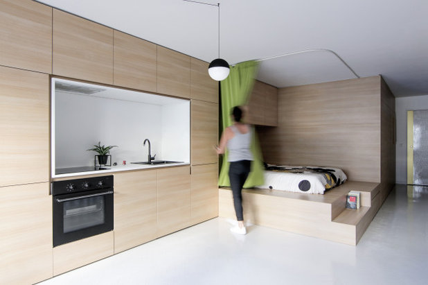 Современный Семейная комната by ABACO | architecture et design