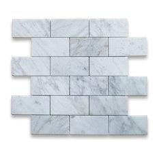 Stone Center Online 12 X12 Carrara White Grand Brick Subway Mosaic Tile Polished