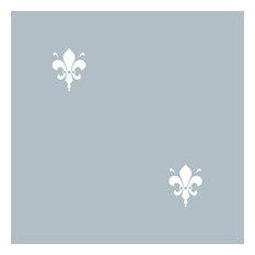 Fleur de Lys Gray Reverse Shelf Paper Drawer Liner, 36x24, Matte Paper
