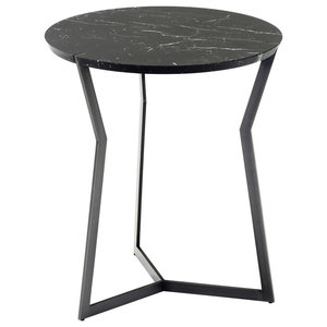 Star Marble Side Table, Black
