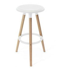 Medusa Round Bar Stool, White