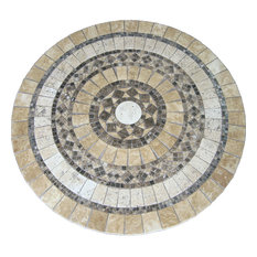 Canyon Mosaic Stone Round Coffee Table, 30""