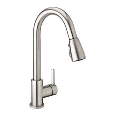 Keeney - Kitchen Sink Faucet With Pull Down Spout, 1-Handle, Brushed Nickel - Kitchen Faucets