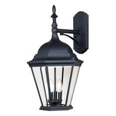 Westlake Cast 3-Light Outdoor Wall Lantern, Black