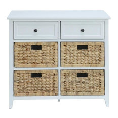 Acme Flavius 6 Drawer Console Table White