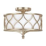 Capital Lighting Fifth Avenue   3-LT Semi-Flush Light 4003WG-487 - Winter Gold
