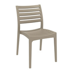 Compamia Ares Outdoor Dining Chairs, Set of 2, Taupe