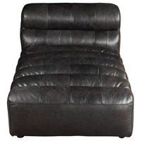 Moes Home Contemporary Modern Ramsay Chaise With Antique Finish QN-1010-01