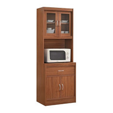 Modern Standing Kitchen Cabinet With Top and Bottom Enclosed Space and 1-Drawer