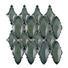 Delphi Valor Random Sized Ceramic Mosaic Tile, Deep Emerald