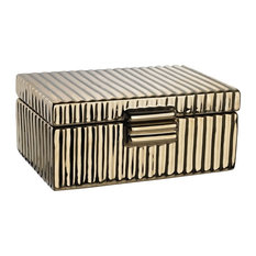 Ceramic Golden Jewelry Box