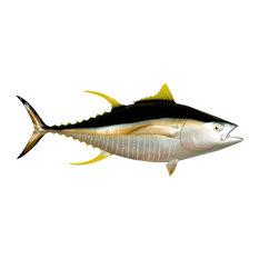 """55"""" Yellowfin Tuna Half Mount Fish Replica"""