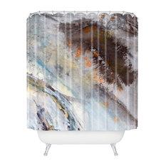 Ginette Fine Art Rust Shower Curtain